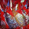 Drei Engel (vor rot), 1992. �l auf Leinwand, 120 x 160 cm (ungerahmt), signiert.