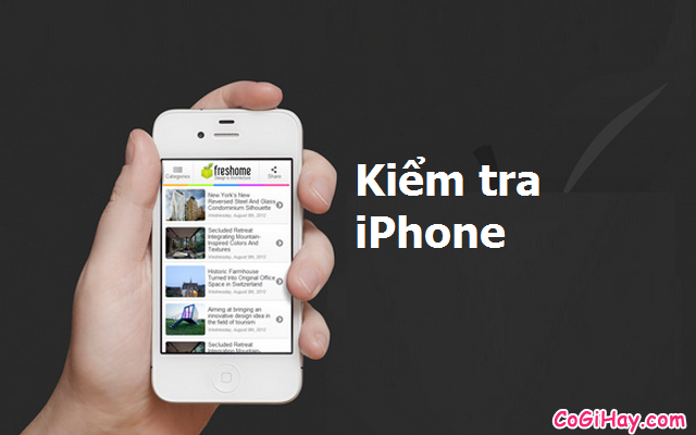 Hướng dẫn kiểm tra IMEI iPhone – Check Imei iPhone