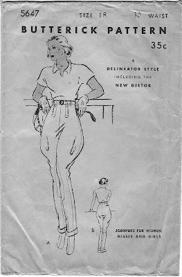 1930s jodhpurs pattern - Butterick 5647