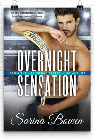 Cover Reveal: Overnight Sensation (Brooklyn Bruisers #5) by Sarina Bowen + Excerpt | About That Story