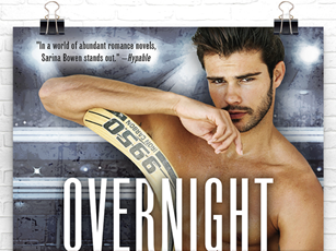 Cover Reveal: Overnight Sensation (Brooklyn Bruisers #5) by Sarina Bowen + Excerpt