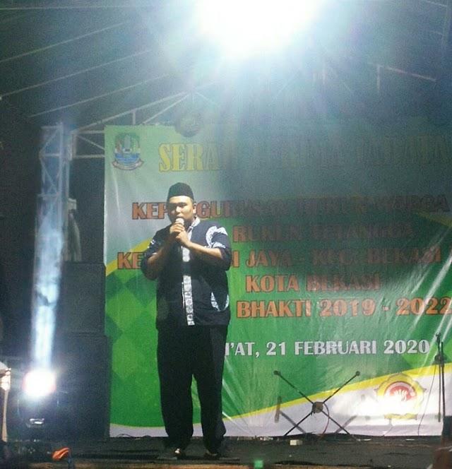 Sertijab RW 06 Kelurahan Bekasi Jaya , Ketua RW Terpilih Launching Nomor Call Center