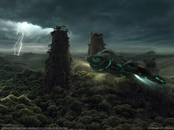 Over Green Forest Of Planet, Fiction 1