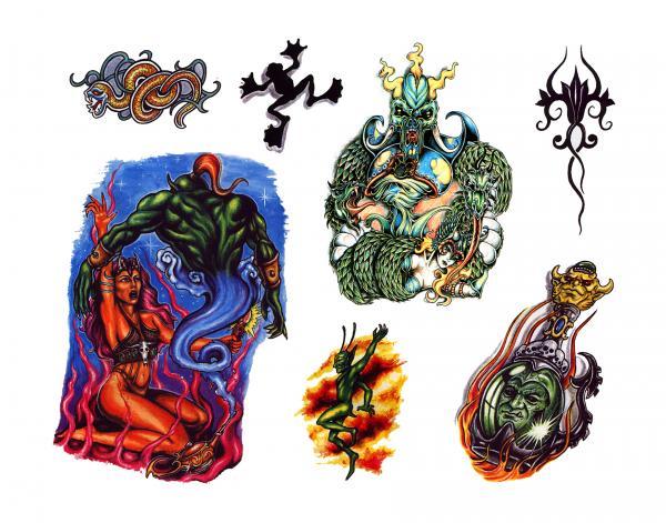 Design Of Magick Tattoo 10, Fantasy Tattoo Designs