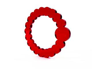 By Amt: Bling Bracelet, Red