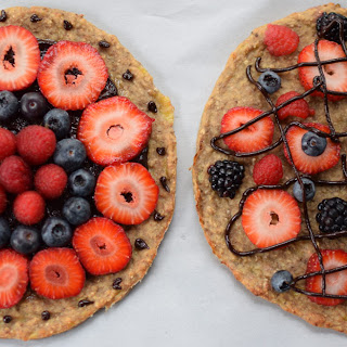 Banana Split Dessert Pizza - Vegan and Gluten Free