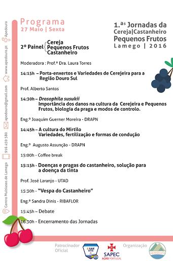 Programa das Jornadas Técnicas - Feira Agrícola de Lamego - 2016