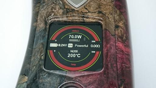 DSC 3106 thumb%255B2%255D - 【MOD】VICIOUS ANT 「KNIGHT STABWOOD #084(SX550J)」レビュー。YiHiハイエンドチップを搭載したスタビMOD!カラー液晶&Bluetooth【高級/スタビライズドウッド/電子タバコ/VAPE/フィリピン製】