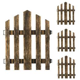 Gard decorativ gradina, 29,5x36 cm, Bronz, set 4 bucati