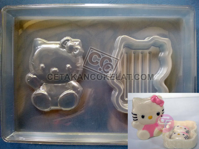 cetakan coklat cokelat PBK-Ribbon hello kitty pour box pourbox