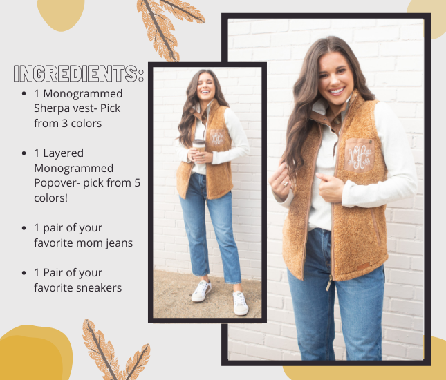 Fall Layers with our sherpa Vest