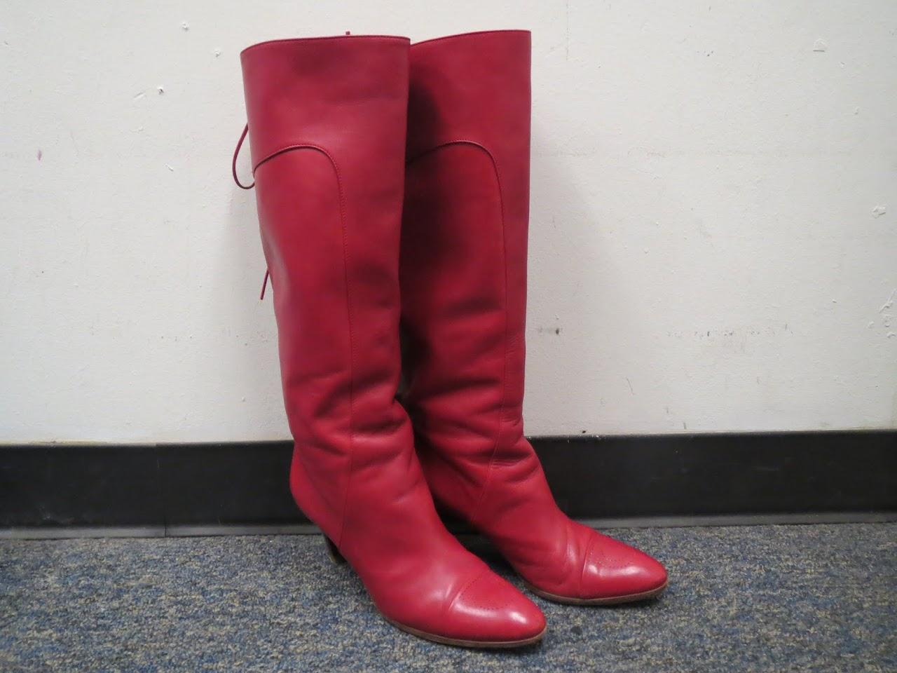 Salvatore Ferragamo Red Calf Boots