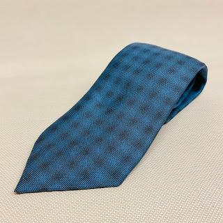 Hermès Blue Optical Illusion Tie