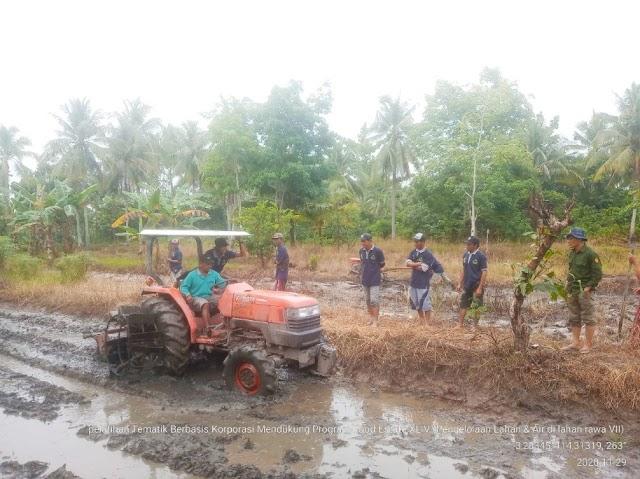 Pelatihan Pengelolaan Lahan dan Air Lahan Rawa Dukung Percepatan Olah Tanah dan Luas Tambah Tanam