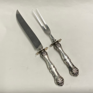 Sterling Silver Handle Carving Set