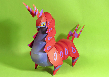Pokemon Scolipede Papercraft