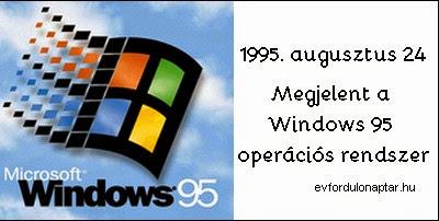 1995. augusztus 24-én megjelent a Windows 95