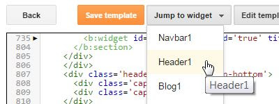 Blogger - Jump to widget Header1