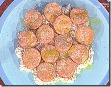 Gnocchi di semolino rosa con salsa di noci