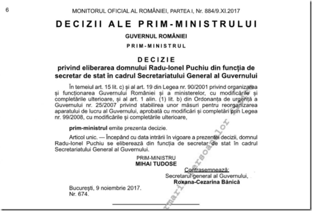 2017 11 09 decizie MO eliberare ss Puchiu
