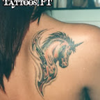 shoulder unicorn land animals - Shoulder Tattoos Designs