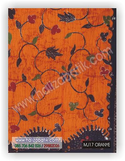 Baju Modern, Motif Batik, Batik Pekalongan, MJ17 ORANYE