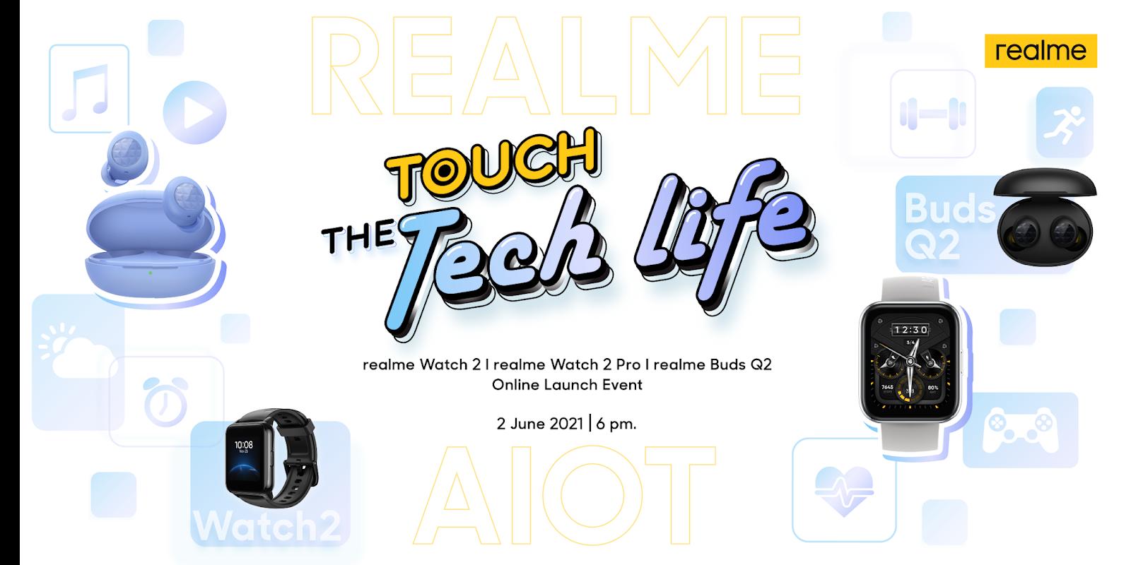 realme ชวนพบกับประสบการณ์สุดล้ำใน Touch the Tech Life งานเปิดตัวผลิตภัณฑ์ AIoT ใหม่ล่าสุด ที่จะนำไปสู่มิติใหม่กับเทคโนโลยีอันล้ำสมัย พร้อมดีไซน์อันเหนือจินตนาการ