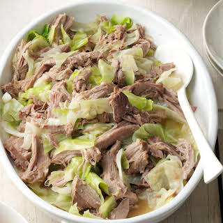 Slow Cooker Kalua Pork & Cabbage.