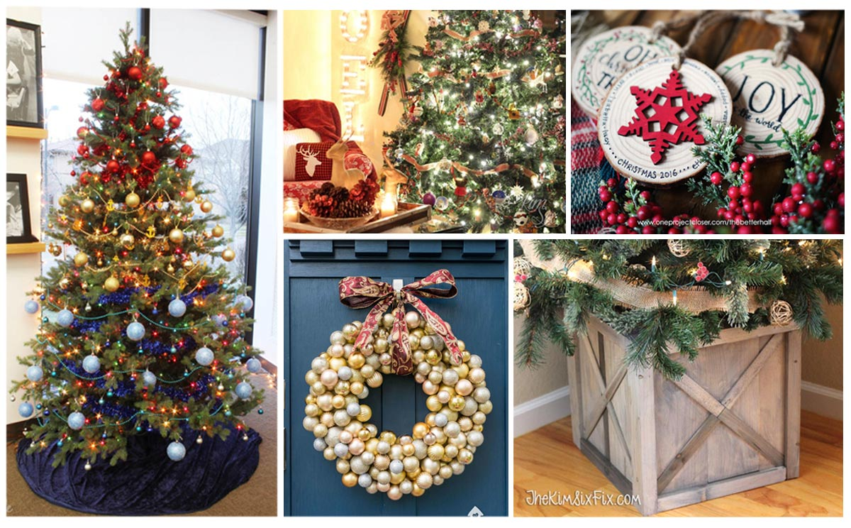 100 decorating ideas for christmas trees and wreaths