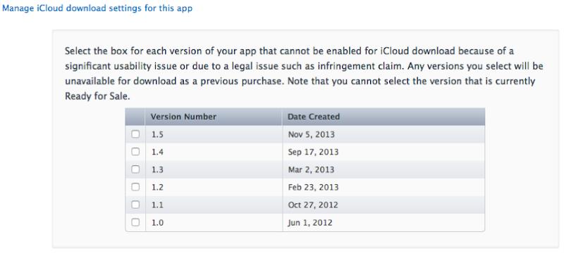 Mange iCloud Download Settings