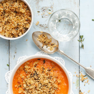 Slow Roasted Tomato Soup with Crispy Herb Breadcrumbs