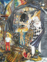 'Der Geldclown'- Öl auf Leinwand, 115x150, April/Mai 1995