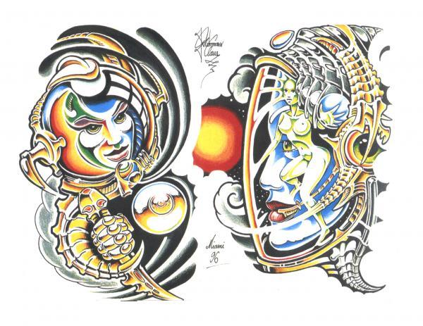 Magical Tattoo Design 1, Fantasy Tattoo Designs