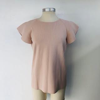 Akris Punto NEW Blush Knit Blouse