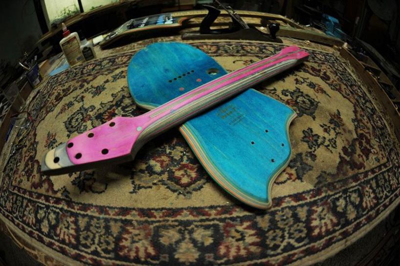 *Skate Guitar 回收再生:電音滑板吉他! 9
