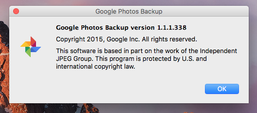 Google Photos Desktop Uploader - Mac OS Sierra - Google