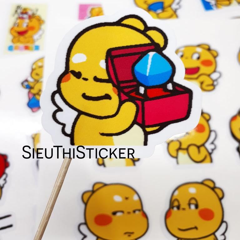sticker rồng vàng qoobee