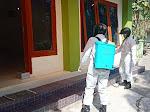 Koramil Panjatan Penyemprotan Cairan Disinfektan di Perkantoran, Tempat Ibadah, Sekolah dan Pasar