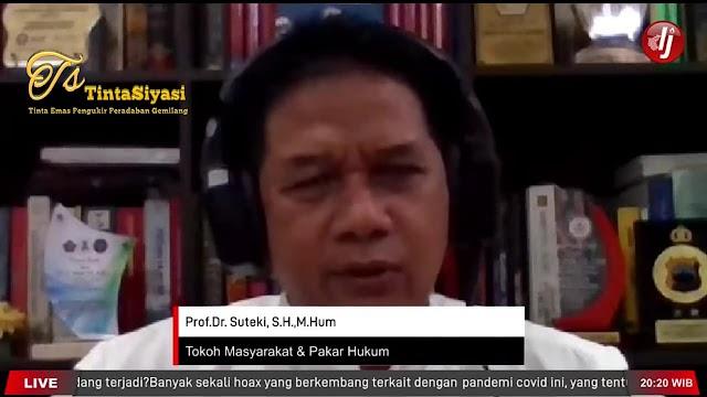 Lonjakan Kasus Covid-19, Prof. Suteki: Bukan karena Mudik Lebaran, tetapi...
