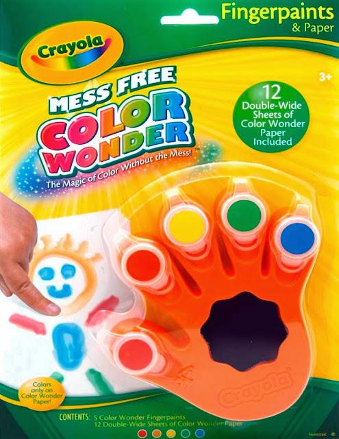 Bộ màu vẽ bằng tay Crayola Fingerpaints cho bé sáng tạo tối đa