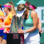 INDIAN WELLS, UNITED STATES - MARCH 20 : Victoria Azarenka at the 2016 BNP Paribas Open trophy ceremony