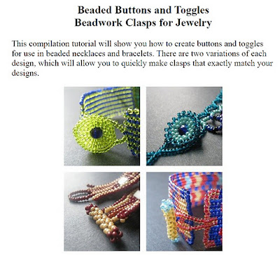 Beaded Buttons and Toggles Tutorial