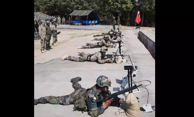 Uzbek troops learn handling of Sig Sauer rifles from Indian soldiers