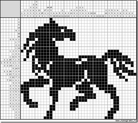 caballo silueta punto cruz  (5)