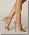 Karen Millen gold glitter fabric sandals