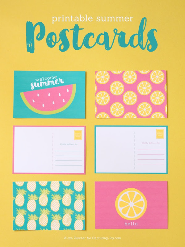 free summer postcards printable