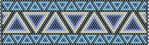 бисер браслет схема мозаичное плетение