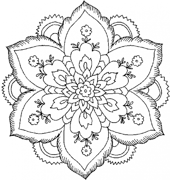 Floral Or Paisley Patterns  Free Printable Adult Coloring Pages