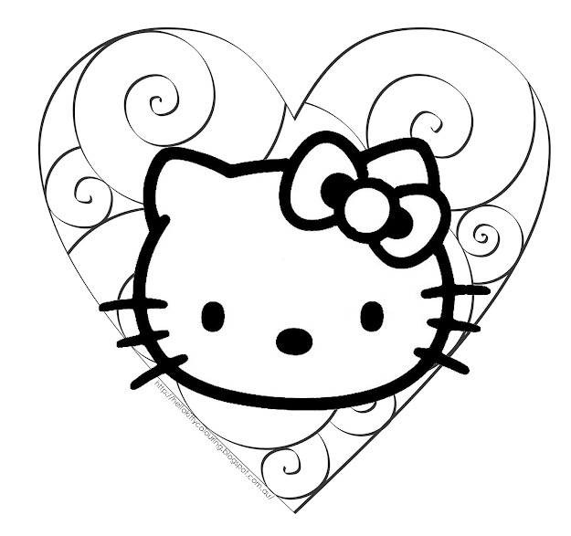 Share Think My Favorite Coloring Page Here Is The One Of Hello Kitty As  An Emo Or Punk  How Crazy Is That Bu