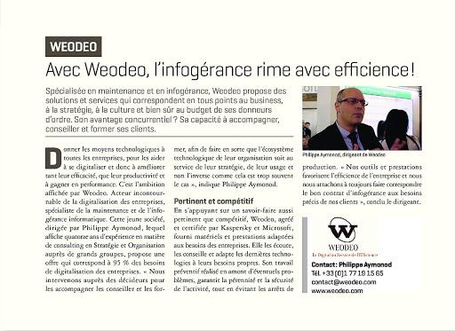Interview de Weodeo par l'Express sur l'infogérence